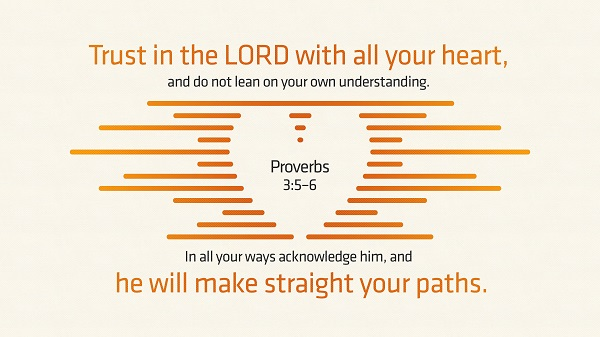 Daily Bible Verse Proverbs 3:5-6